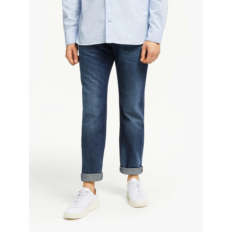 BuyTommy Hilfiger Mercer Straight Jeans, Mid Blue, 32S Online at  johnlewis.com
