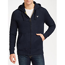 Buy Barbour Bradley Cotton Hoodie, Navy Online at johnlewis.com