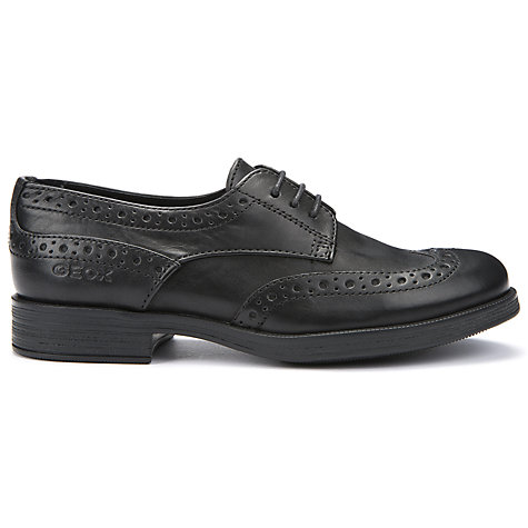 Buy Geox Lace-Up Brogue, Black Online at johnlewis.com