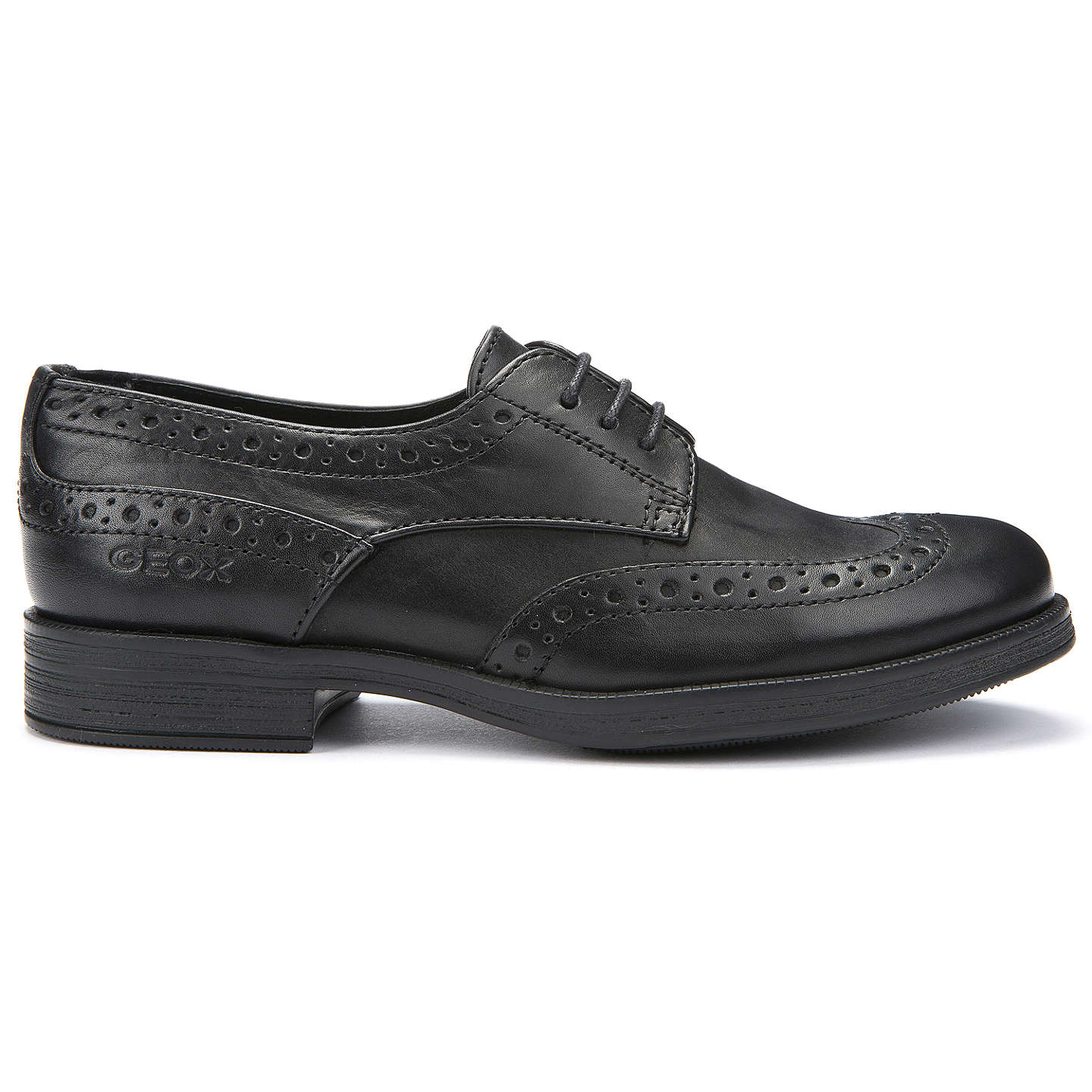 BuyGeox Lace-Up Brogue, Black, 30 Online at johnlewis.com