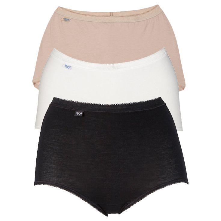 Sloggi sloggi 3 Pack Maxi Pants, Black / White / Nude