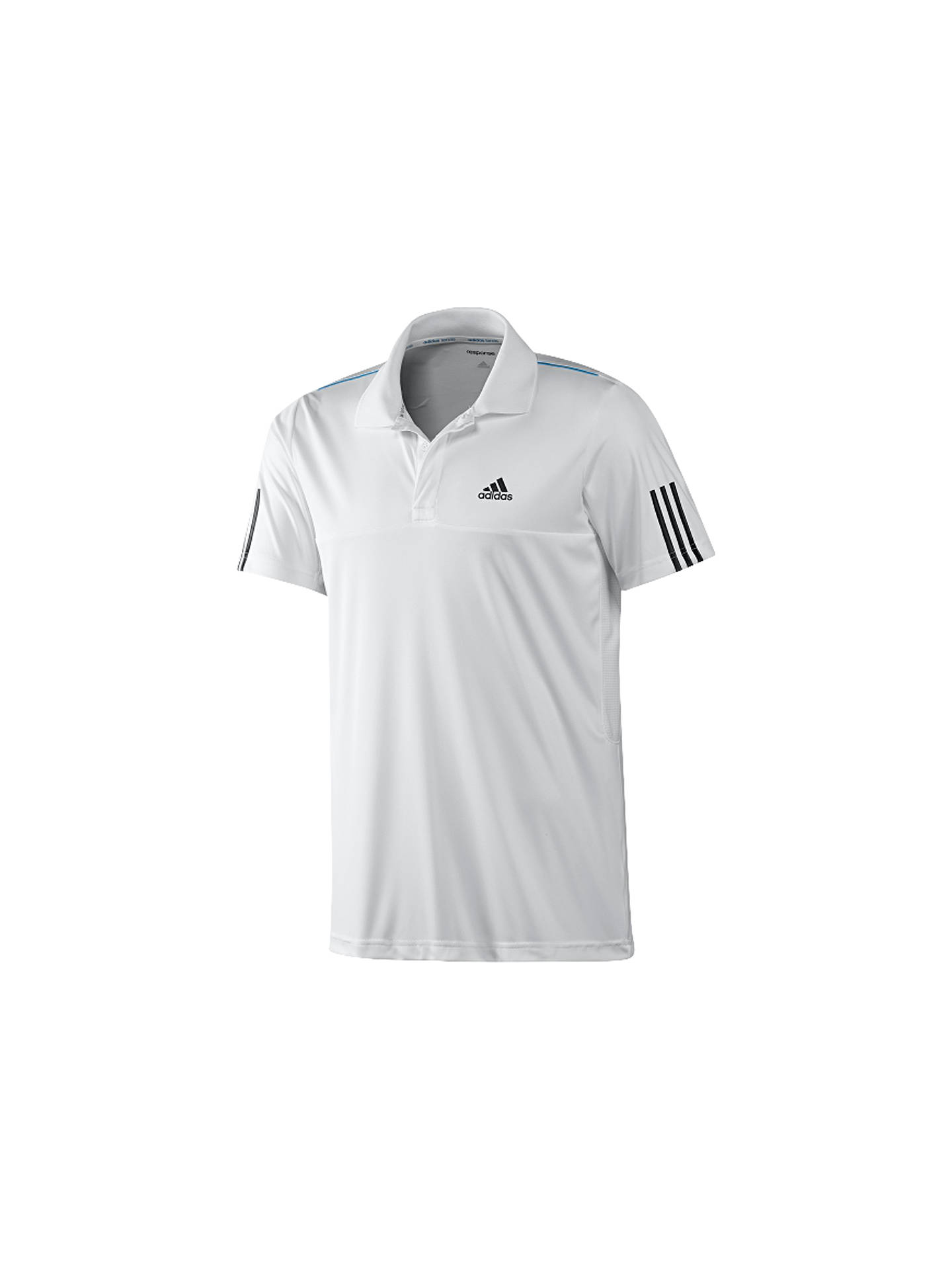 0e80c44e BuyAdidas Tennis Response Polo Shirt, White, XS Online at johnlewis.com ...