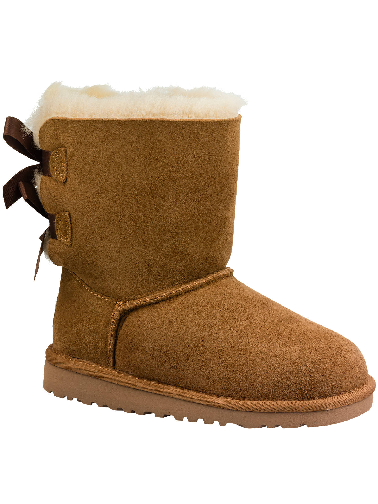 080b7f13c0d UGG Children's Bailey Bow Boots, Chestnut at John Lewis & Partners