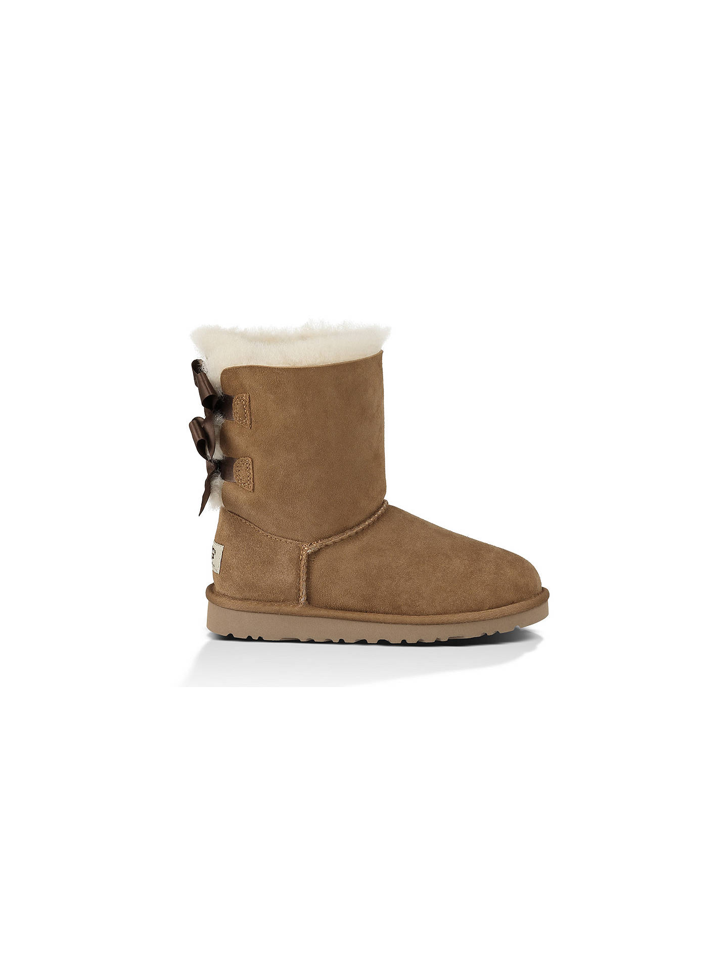 0e9b5939cc8 UGG Children's Bailey Bow Boots, Chestnut at John Lewis & Partners