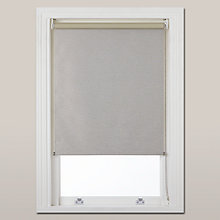 Buy John Lewis Croft Collection Braemar Textured Blackout Roller Blind, Putty Online at johnlewis.com