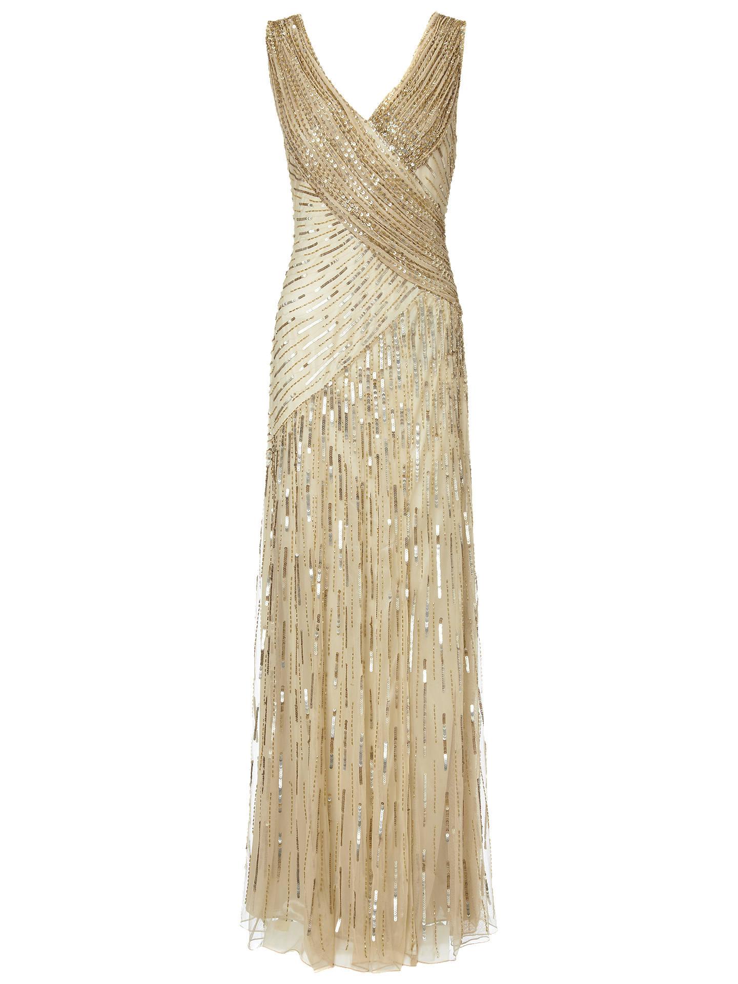 4df05b60 Buy Ariella Juliet Sequin Long Dress, Gold, 8 Online at johnlewis.com ...