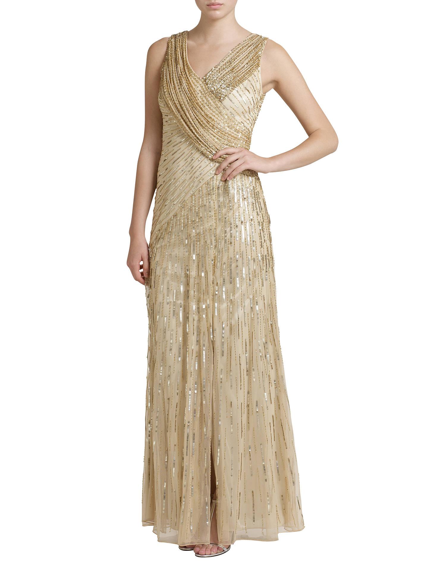 76930aaa ... Buy Ariella Juliet Sequin Long Dress, Gold, 8 Online at johnlewis.com  ...