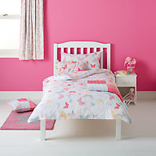 Buy little home at John Lewis Little Fairy Butterflies Duvet Cover and Pillowcase Set Online at johnlewis.com