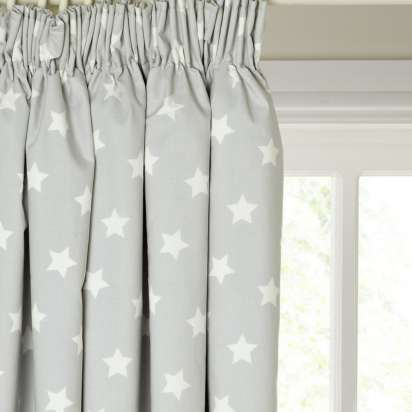 Buy Little Home At John Lewis Star Pencil Pleat Blackout Lined Childrenu0027s  Curtains Online At Johnlewis ...