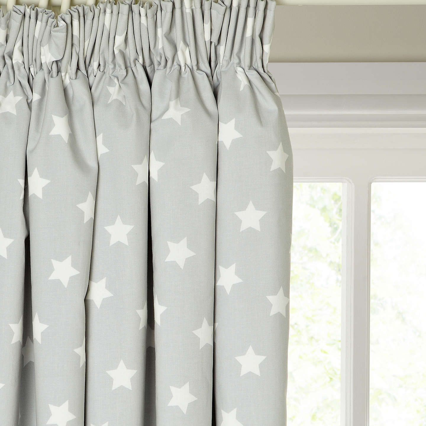 Buylittle Home At John Lewis Star Pencil Pleat Pair Blackout Lined Curtains,  W165 X Drop ...