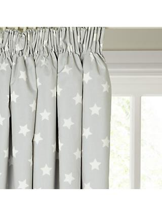 little home at John Lewis Star Pencil Pleat Pair Blackout Lined Children's Curtains