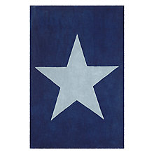 Buy little home at John Lewis Star Children's Rug, Blue Online at johnlewis.com