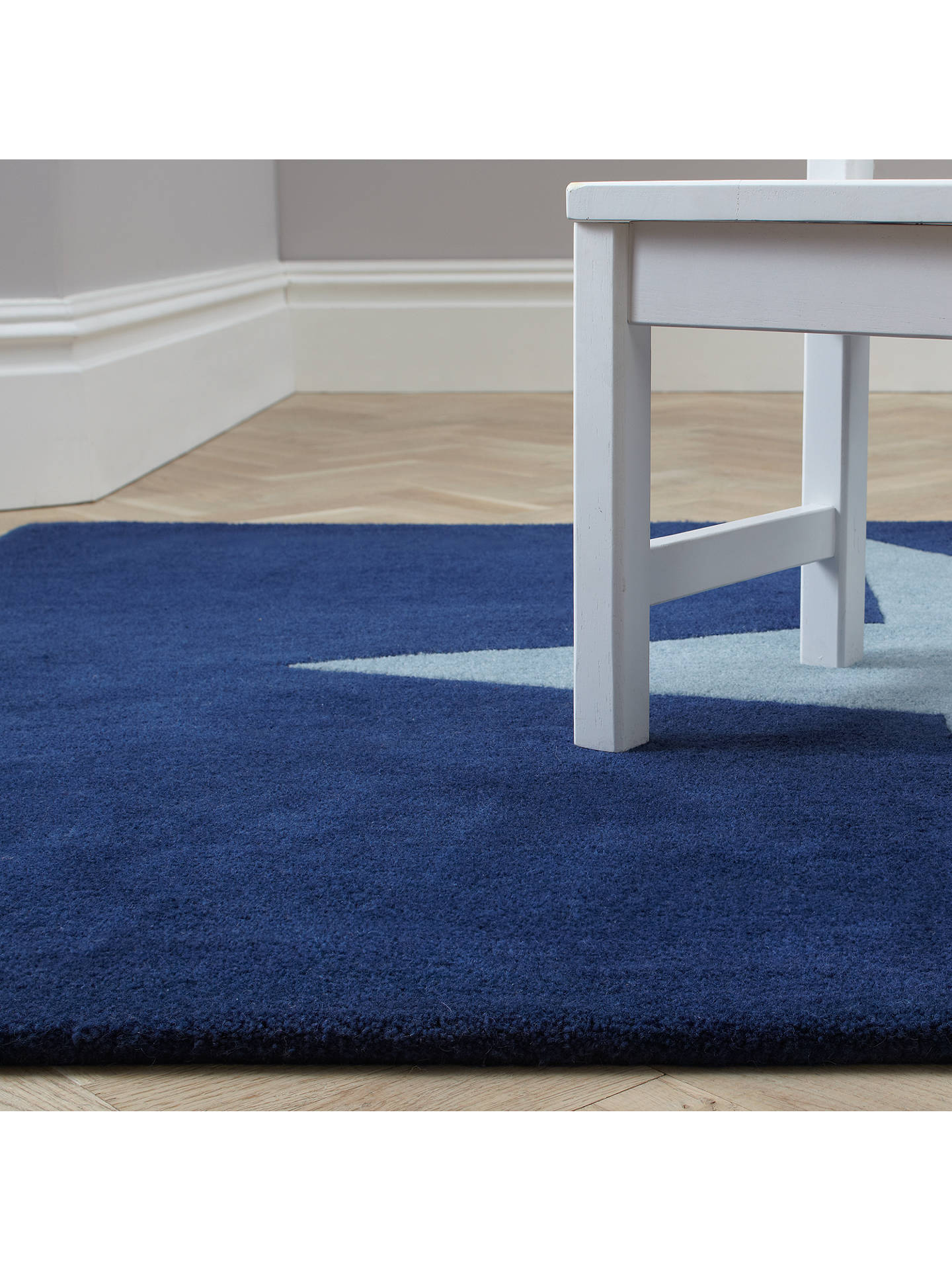Buy little home at John Lewis Star Children's Rug, Blue, L170 x W110cm Online at johnlewis.com