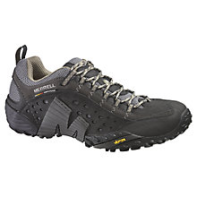 Buy Merrell Intercept Leather Walking Shoes, Black Online at johnlewis.com