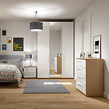 Buy House by John Lewis Mix it Bedroom Range, Gloss White/Natural Oak Online at johnlewis.com