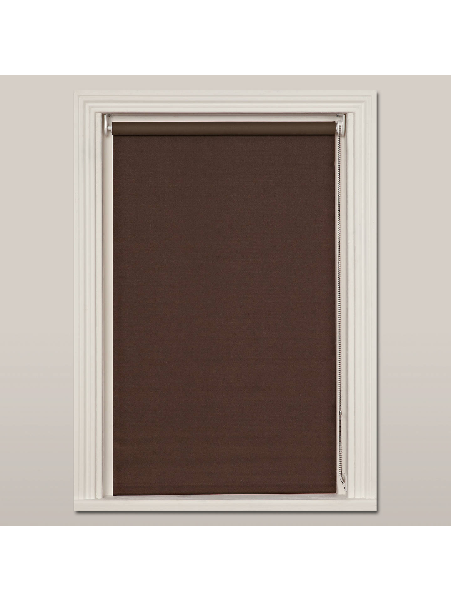 BuyJohn Lewis & Partners Hessian Blackout Roller Blind, Mocha, W61cm Online at johnlewis.com