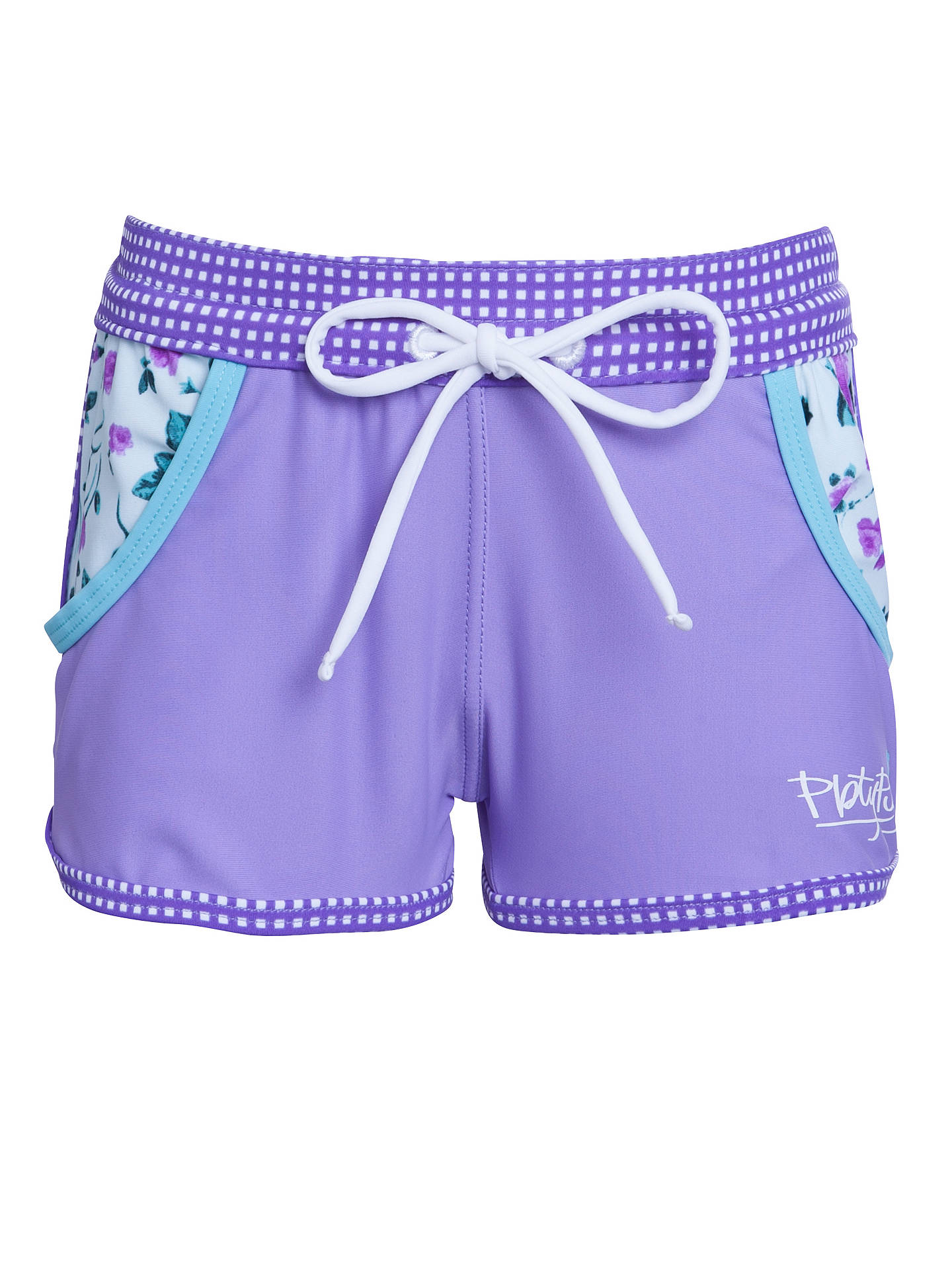 6e5366c75574f BuyPlatypus Girls' Rose Board Shorts, Lilac, 2 years Online at johnlewis.  ...