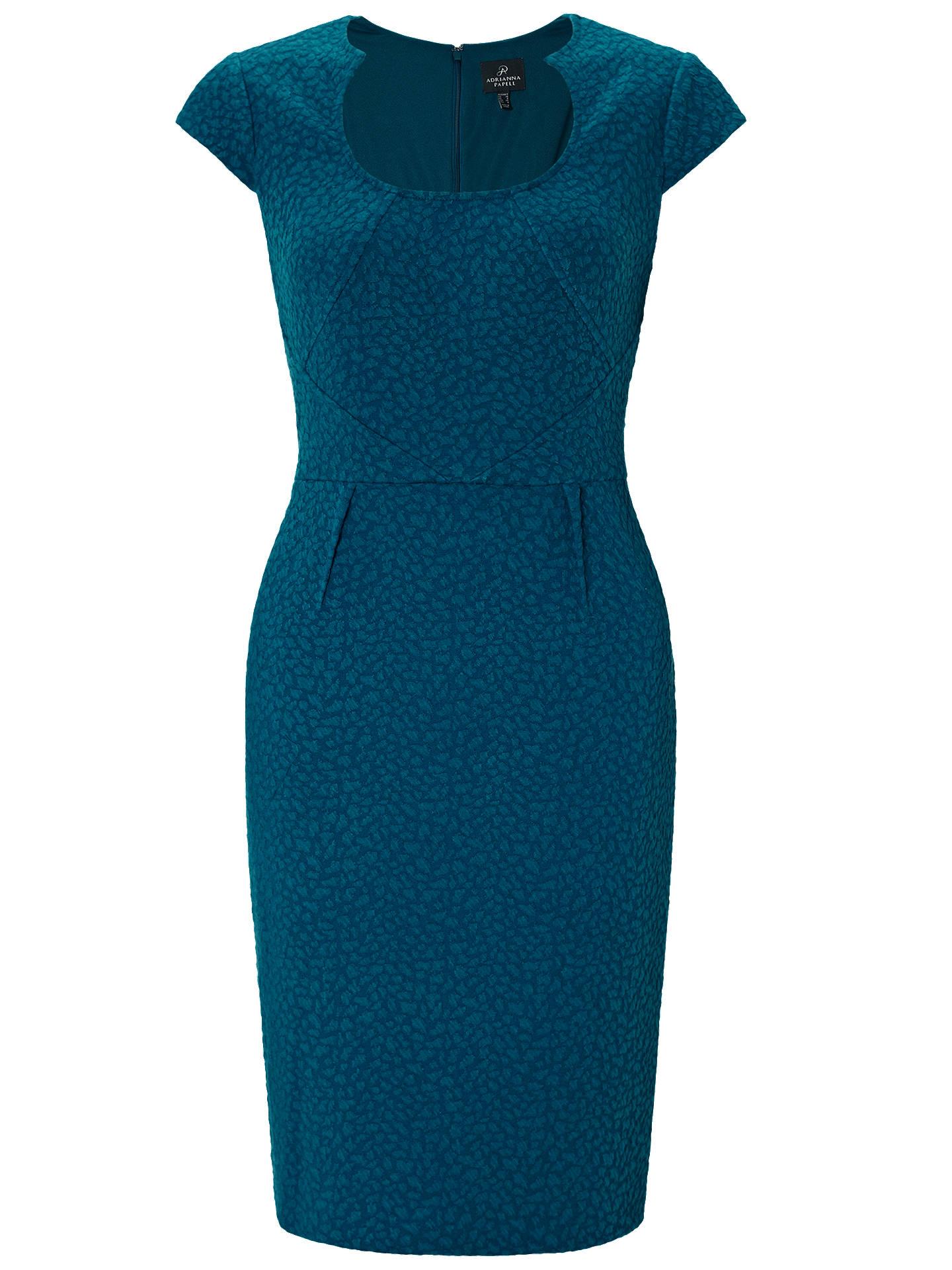 Adrianna Papell Illusion Bodice Jersey Sheath Dress