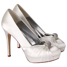 Buy Rainbow Couture Alessia Satin Court Shoes, Ivory Online at johnlewis.com