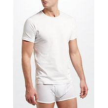Buy Sunspel Short Sleeve Underwear Crew Neck T-Shirt, White Online at johnlewis.com