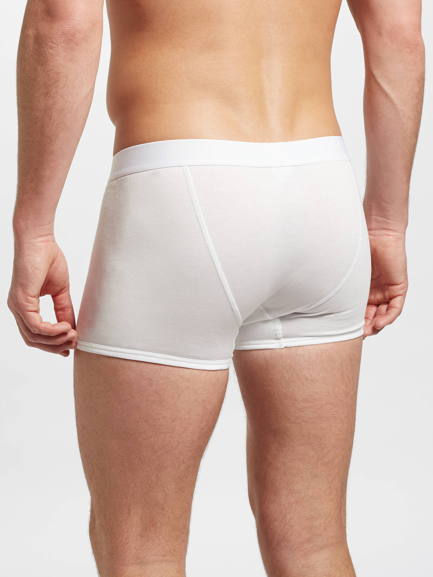 BuySunspel Superfine Cotton Low Waist Trunks, White, L Online at johnlewis.com