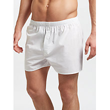Buy Sunspel Classic Cotton Boxer Shorts, White Online at johnlewis.com