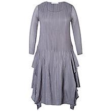 Buy Chesca Crush Pleat Layered Dress, Silver/Grey Online at johnlewis.com