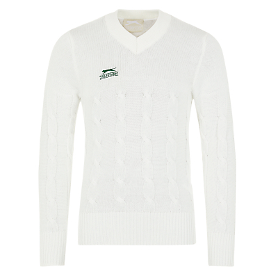 Slazenger Boys' Long Sleeve V-Neck Cricket Jumper, Ivory