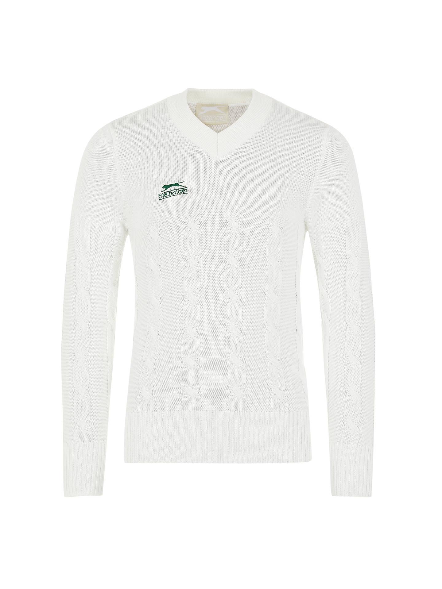 7ce74373fef Buy Slazenger Boys' Long Sleeve V-Neck Cricket Jumper, Ivory, 5- ...