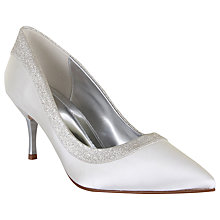 Buy Rainbow Club Maddie Satin Court Shoes, Ivory Online at johnlewis.com