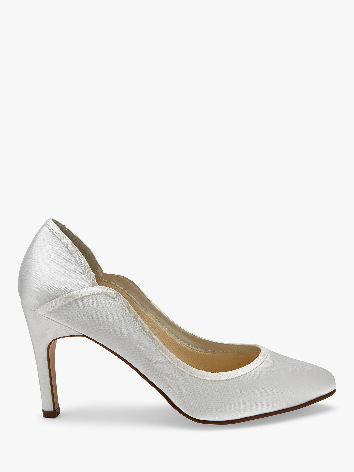 d7a2c2fbe0c Buy Rainbow Club Lucy Satin Court Shoes, Ivory, 3 Online at johnlewis.com  ...