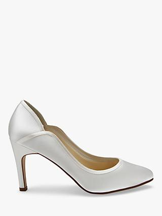 Rainbow Club Lucy Satin Court Shoes, Ivory
