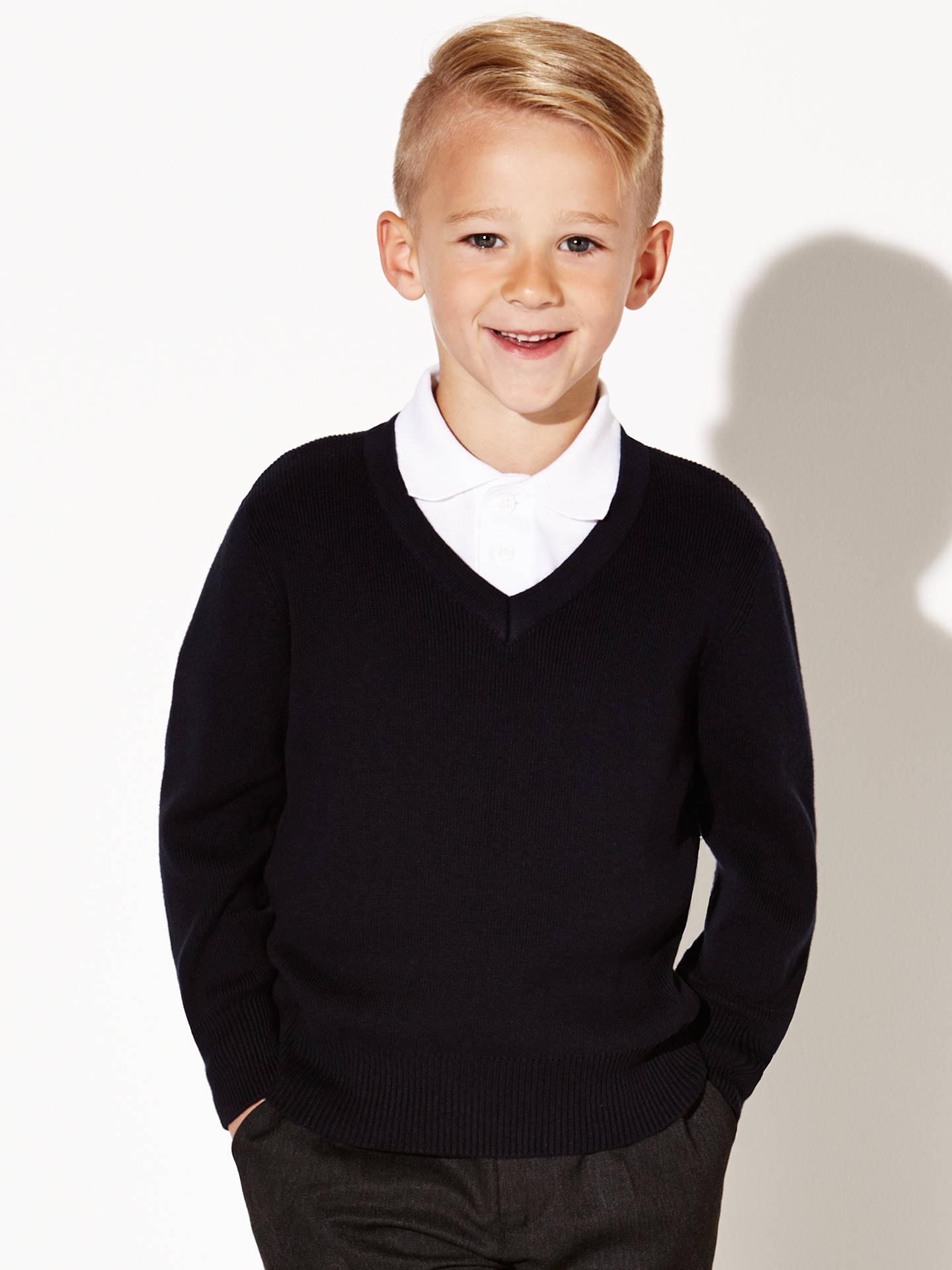 f2736b6d0 Buy John Lewis & Partners Unisex 100% Pure Cotton V-Neck School Jumper, ...