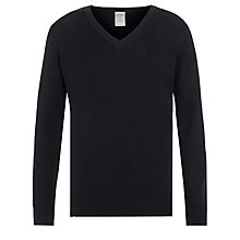 Buy John Lewis Wool Mix V-Neck School Jumper Online at johnlewis.com
