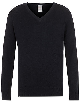 Buy John Lewis & Partners Wool Mix V-Neck School Jumper, Navy, 13-14 years Online at johnlewis.com