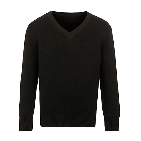 Buy John Lewis Unisex 100% Pure Cotton V-Neck School Jumper Online at johnlewis.com