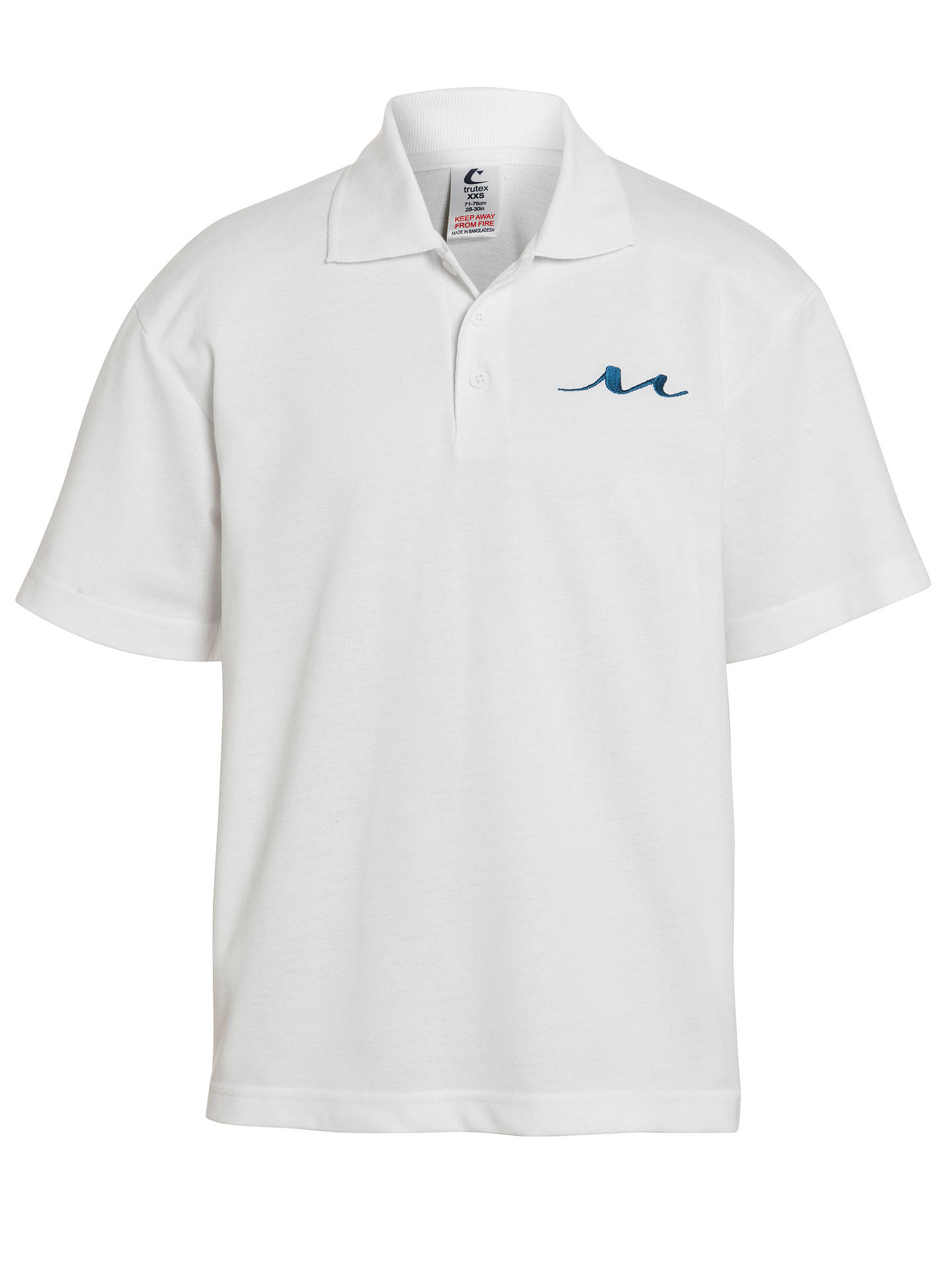 536bda01 Childrens Plain White Polo Shirts | Top Mode Depot