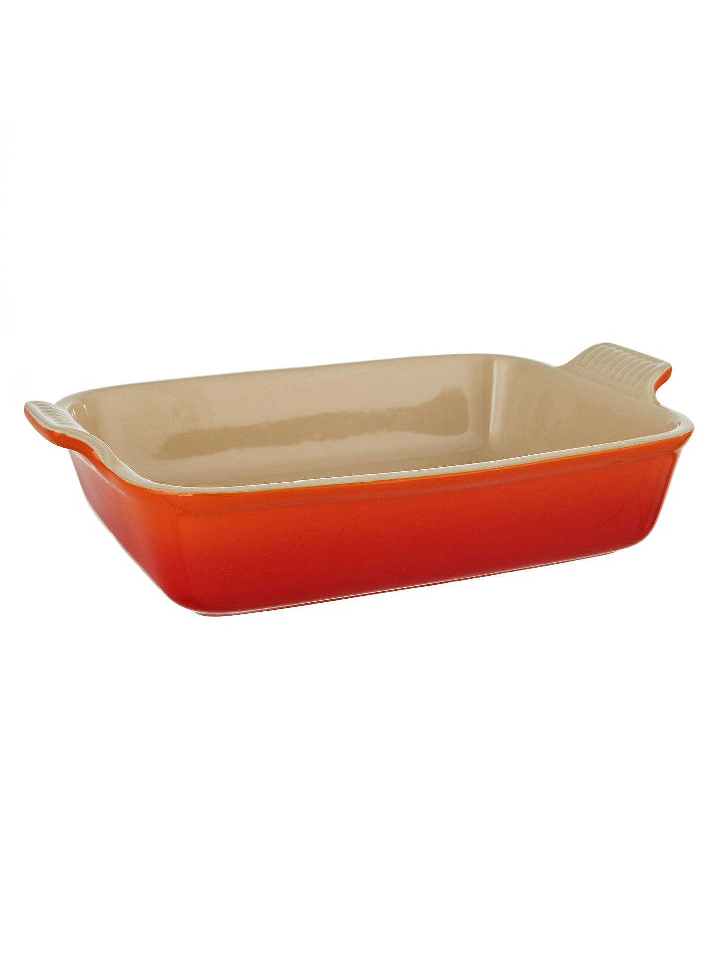 Le Creuset Stoneware Bakeware Serving Dish 32cm Orange Colour Bakeware & Ovenware