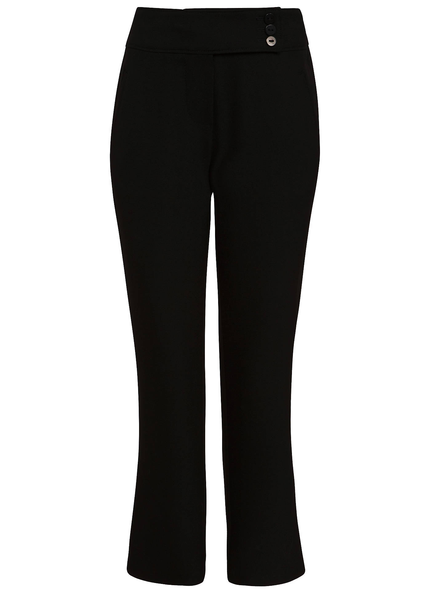BuyJohn Lewis & Partners Girls' Adjustable Waist Button School Trousers, Black, 3 years Online at johnlewis.com