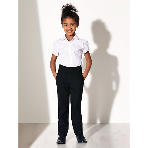 Buy John Lewis & Partners Girls' Adjustable Waist Button School Trousers Online at johnlewis.com