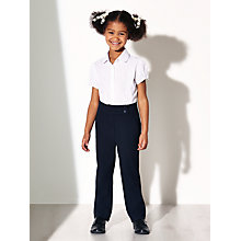Buy John Lewis Girls' Adjustable Waist Button School Trousers Online at johnlewis.com