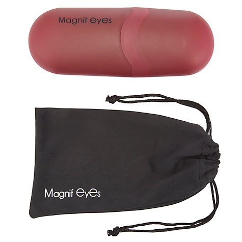Buy Magnif Eyes Burlington Admiral Unisex Ready Readers, Black/Red Online at johnlewis.com