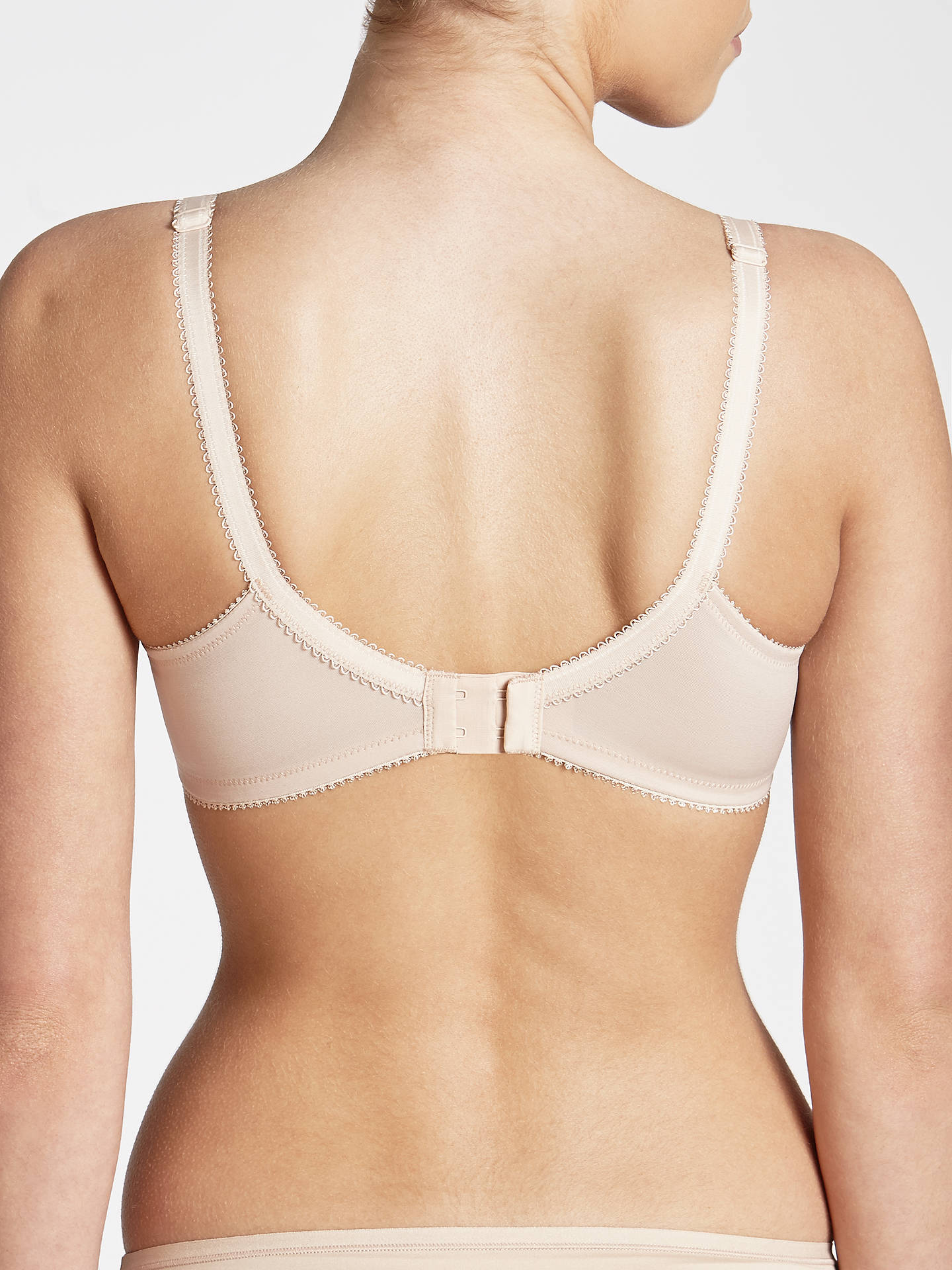 Buy John Lewis & Partners Lauren Lace Non Wired Non Padded Bra, Nude, 30B Online at johnlewis.com