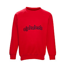 Buy Alpha Prep School Nursery Sweatshirt, Red Online at johnlewis.com