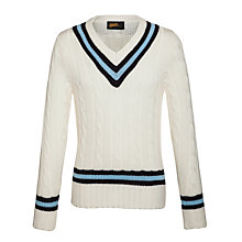 Buy Westville House School Boys' Cricket Jumper, Ivory/Blue Online at johnlewis.com
