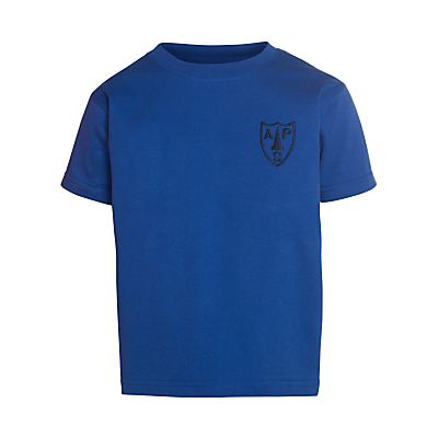 Product photo of Alpha prep school bradfield house tshirt royal blue