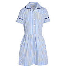 Buy Windrush Valley School Girls' Summer Dress, Blue/White Online at johnlewis.com