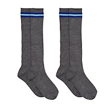 Buy Westville House School Boys' Socks, Pack of 2, Grey/Blue Online at johnlewis.com