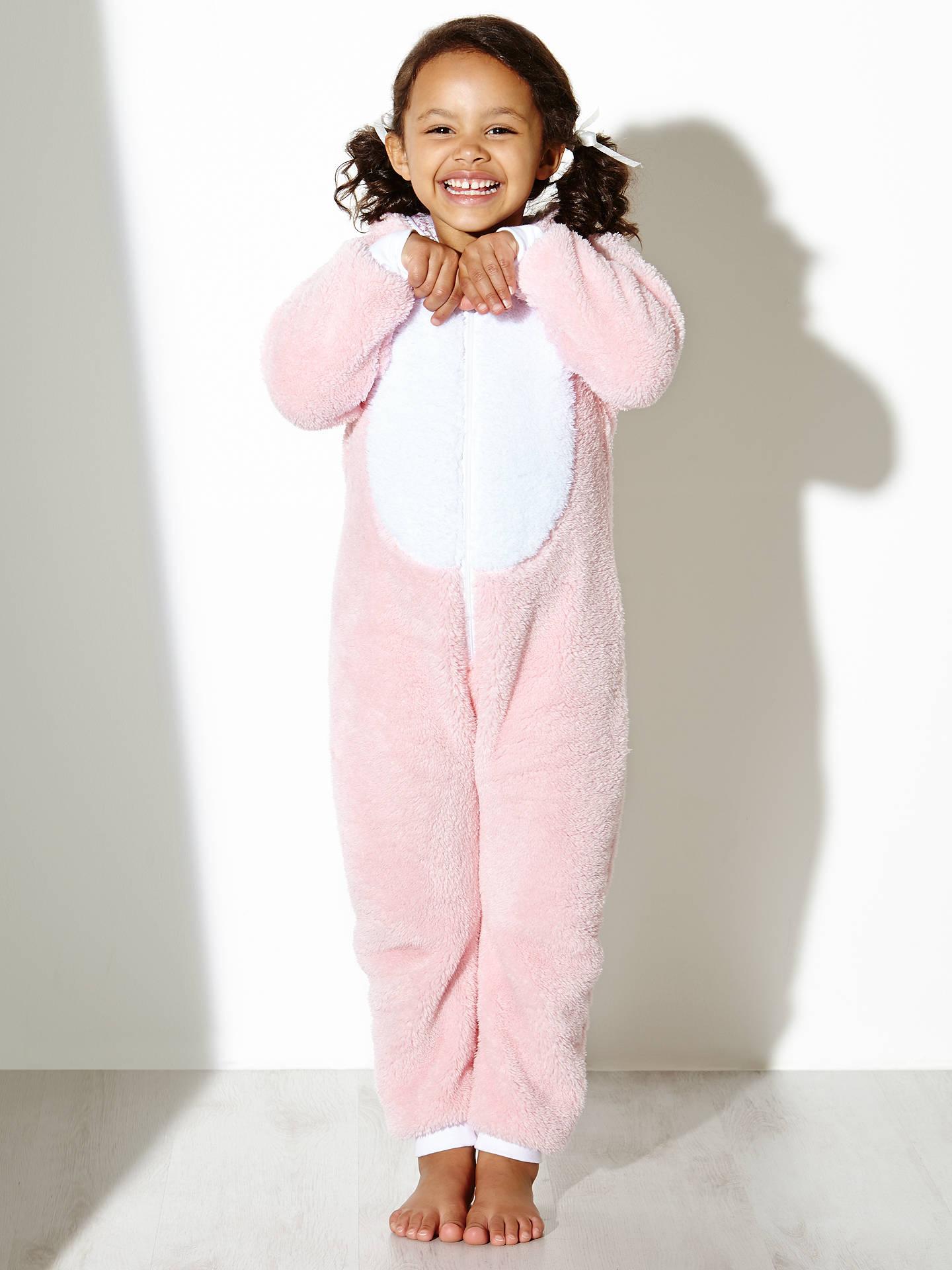 bbb574fd4 John Lewis Girl Fleece Bunny Rabbit Onesie