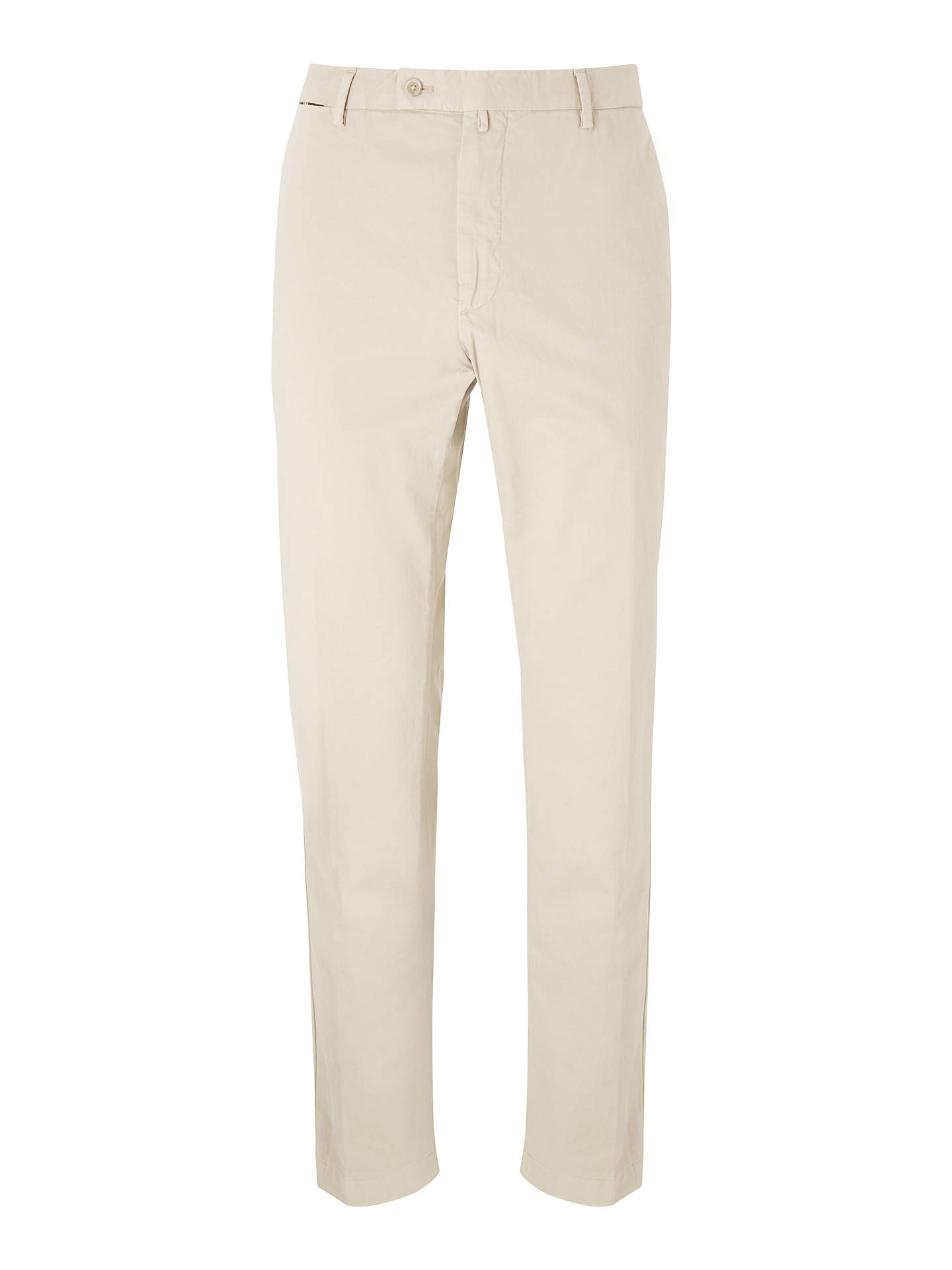 BuyHackett London Stretch Twill Cotton Chinos, Hackett Khaki, 32S Online at johnlewis.com